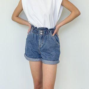 Oak+Fort Denim Paperbag Shorts